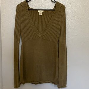 Brown long sleeve sweater size Medium